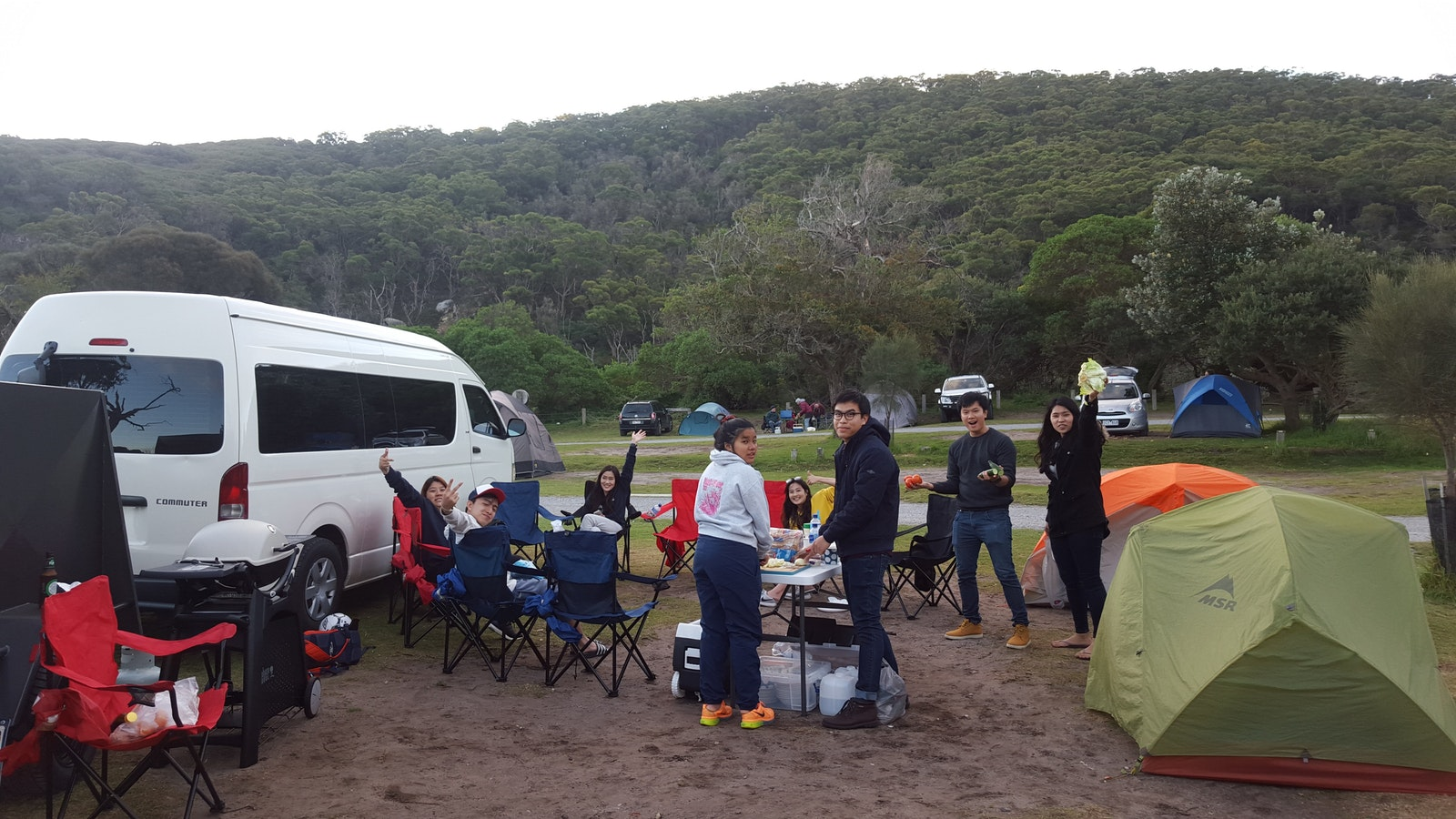 Camping at Tidal River
