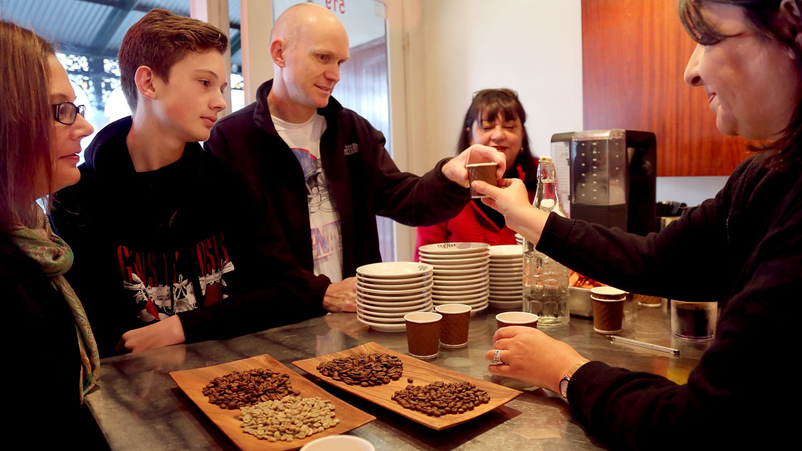 Coffee education on the Gourmet Melbourne Tour