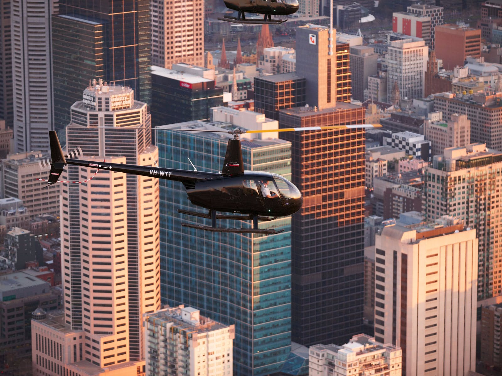 Fly about Melbourne City and Port Philip Bay!