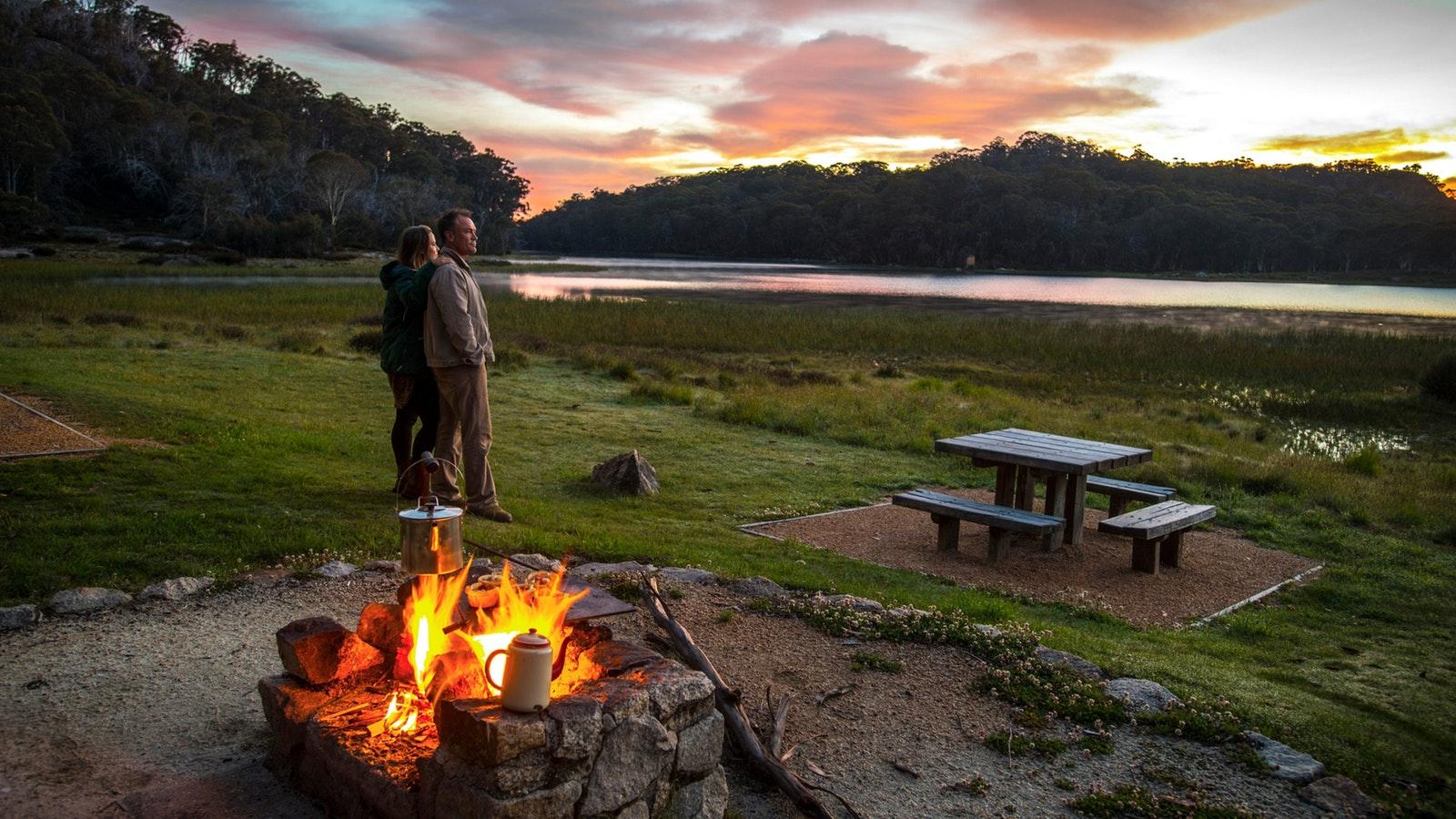 Camping at Lake Catani Mount Buffalo