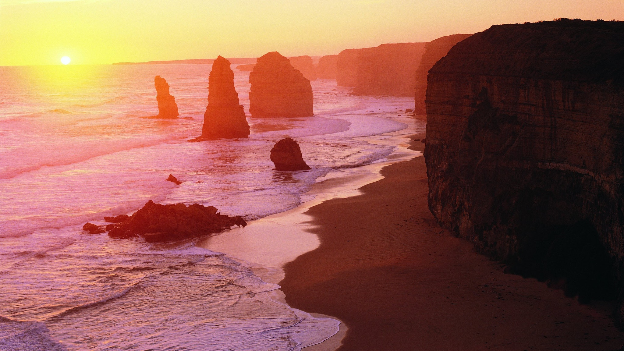 Sunset at the Apostles