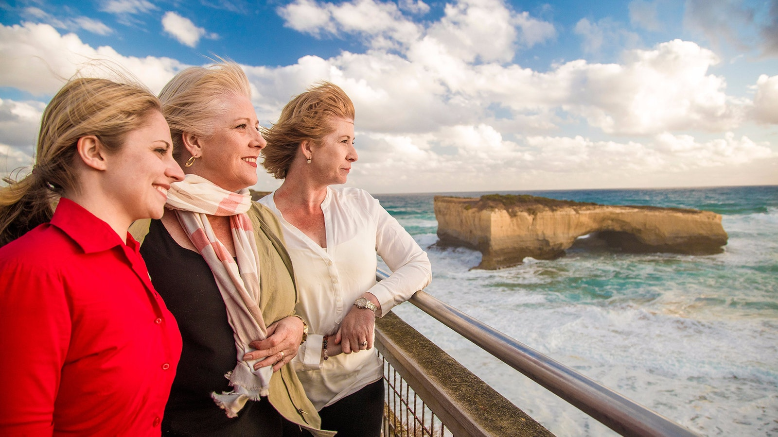 AAT Kings guide and guests on the Great Ocean Road