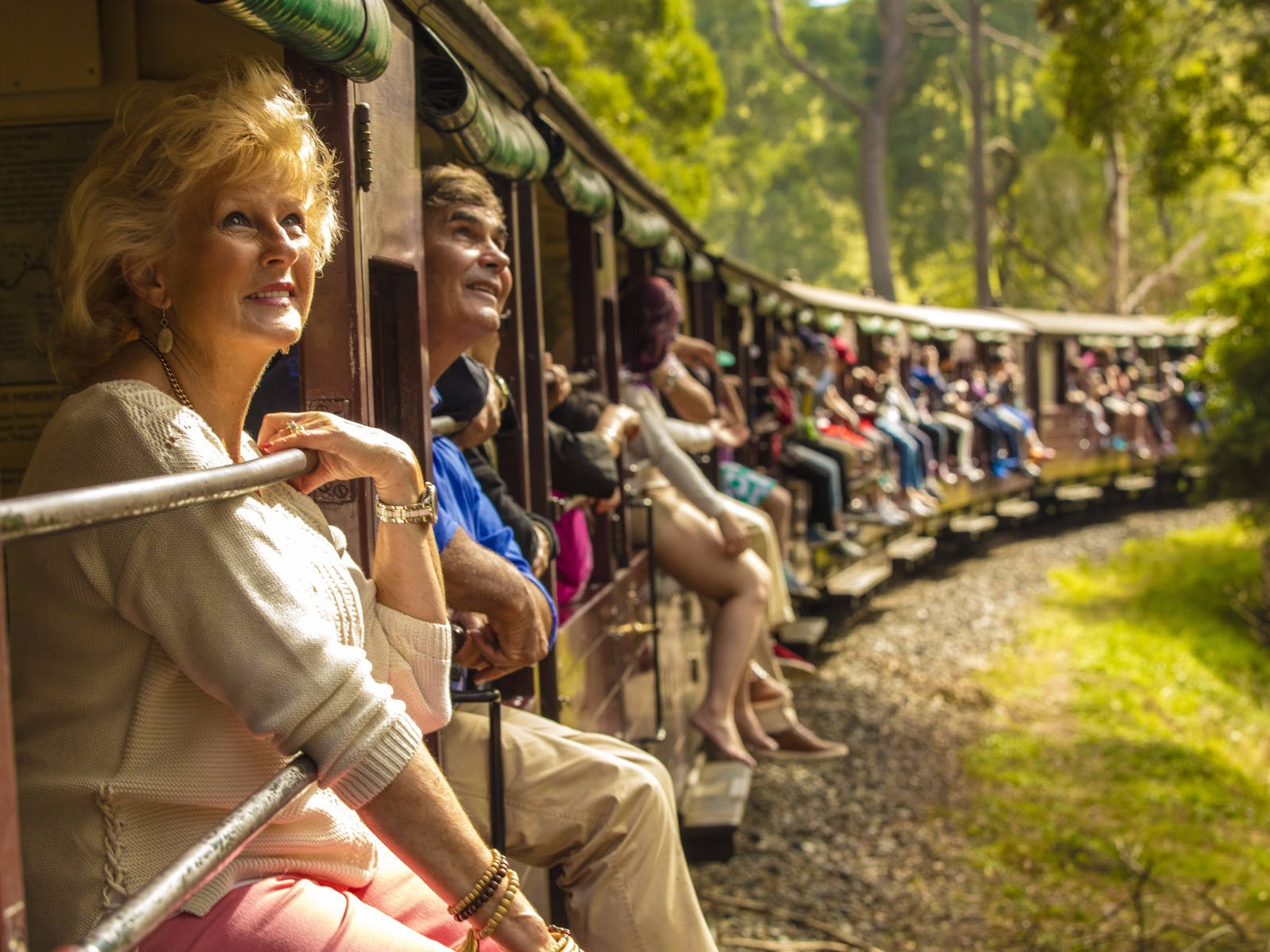 AAT Kings guests on Puffing Billy Steam Train