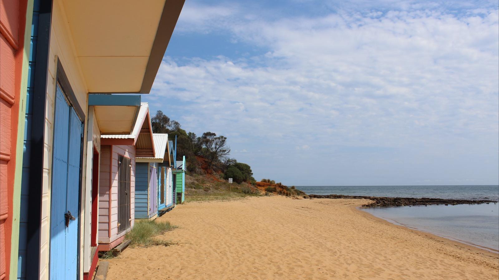 Beach huts Port Phillip Bay