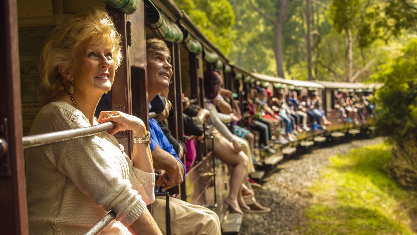 AAT Kings guests on the Puffing Billy Steam Train