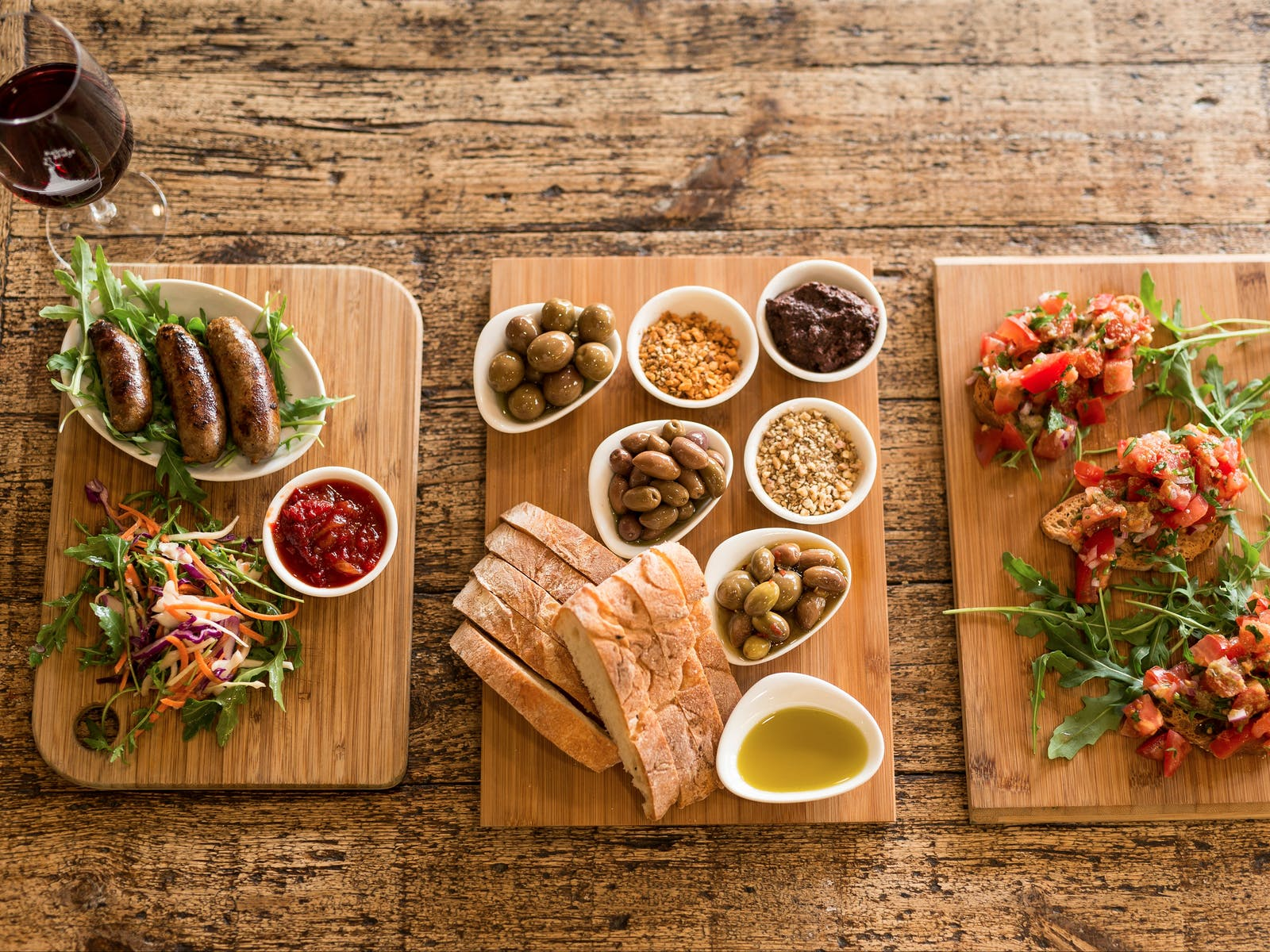 Enjoy a gourmet sharing tapas lunch option from Green Olive Winery Red Hill, Mornington Peninsula