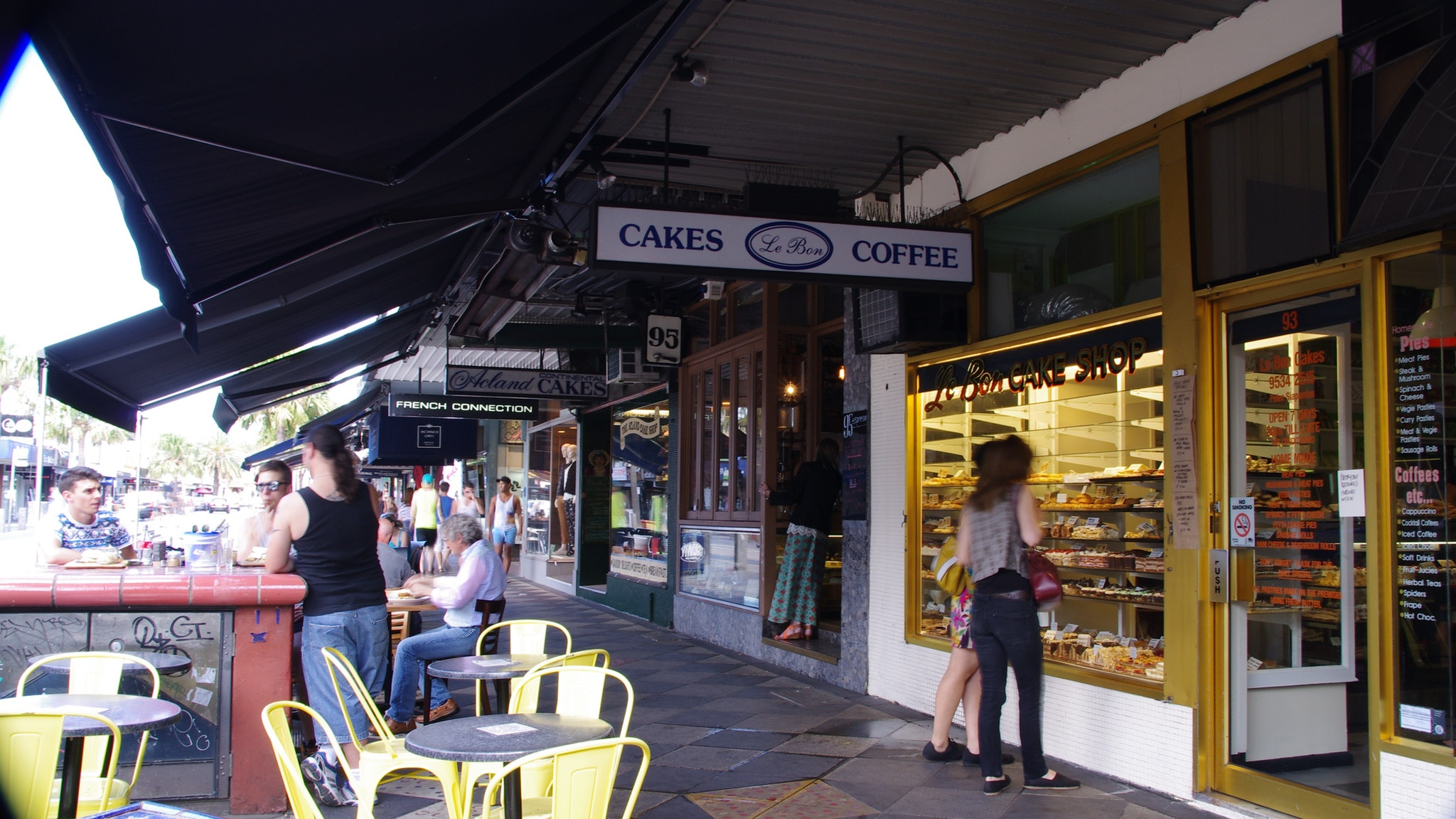 Shopping for treats in Acland Street St Kilda