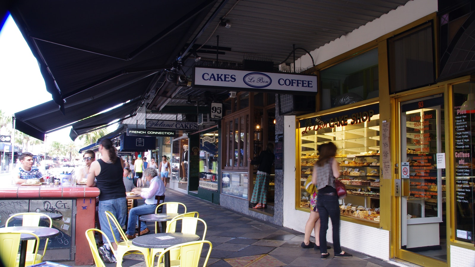 Shopping for European Cakes in Acland Street, St Kilda