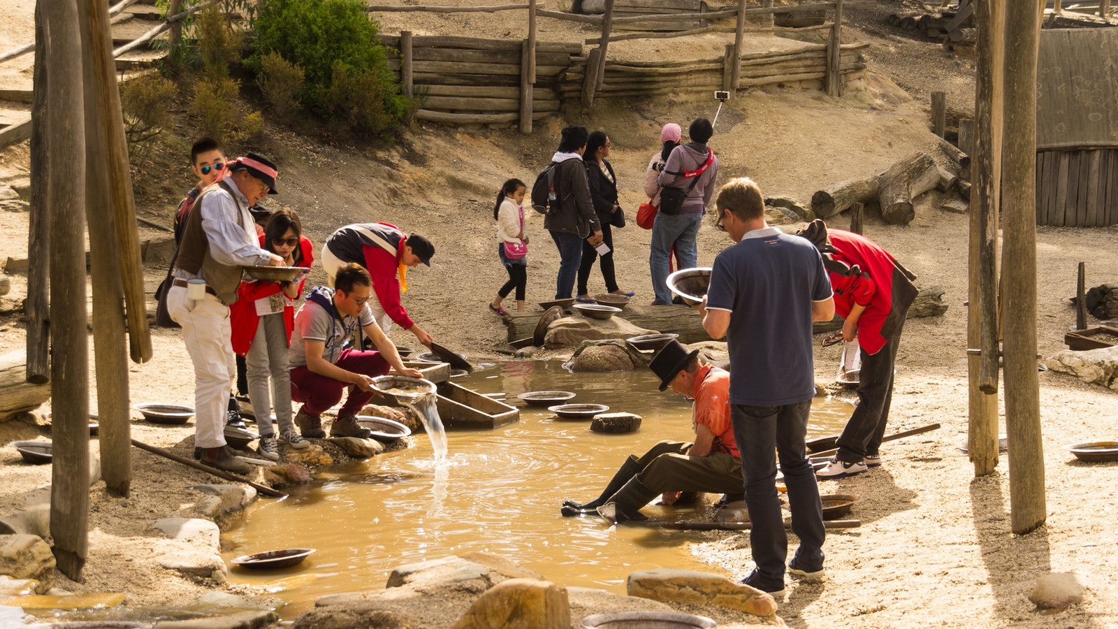 Panning for Gold at Sovereign Hill
