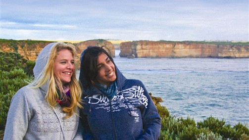 Enjoying the view at the Great Ocean Road