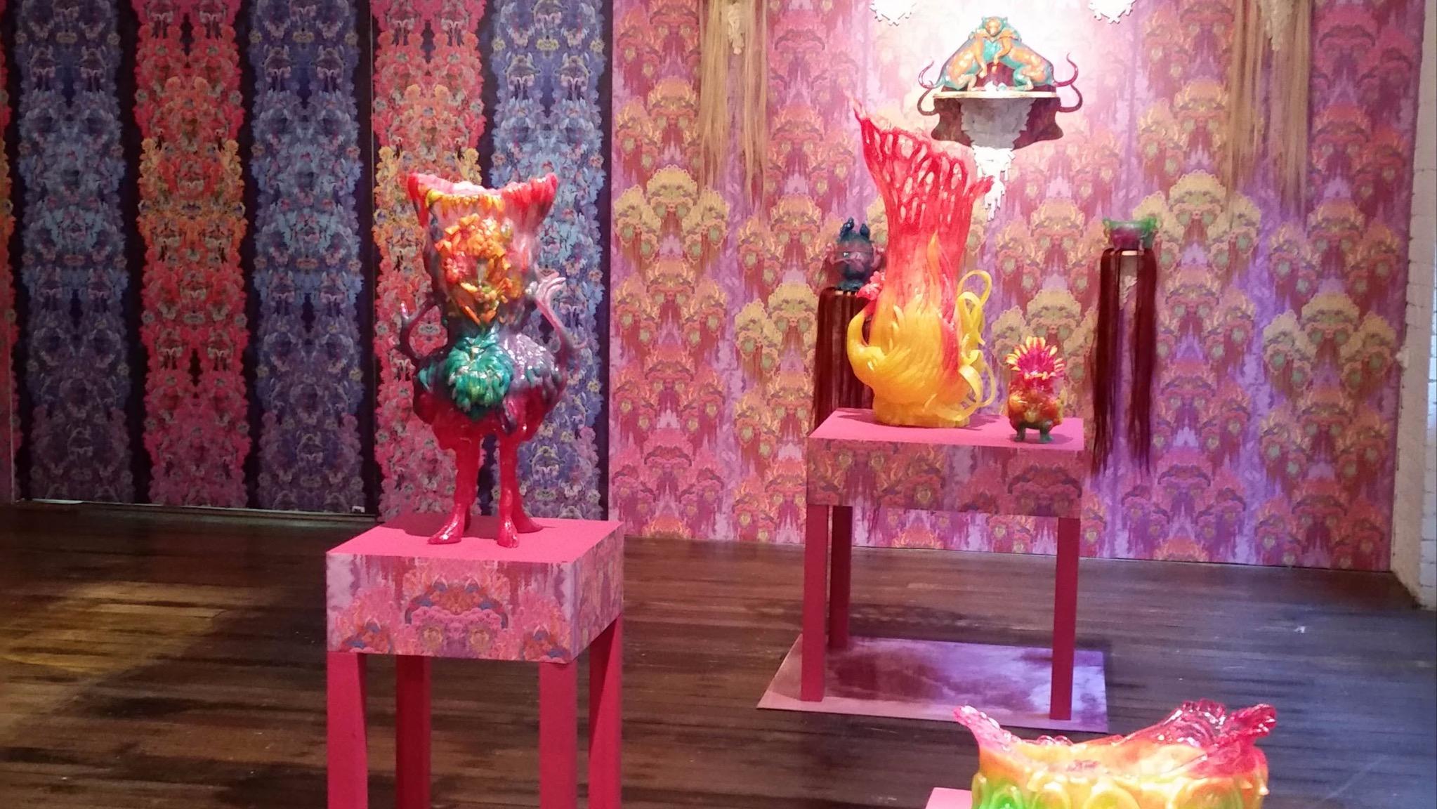 Artworks by Kate Rhodes - Exhibition Installation at Craft Victoria