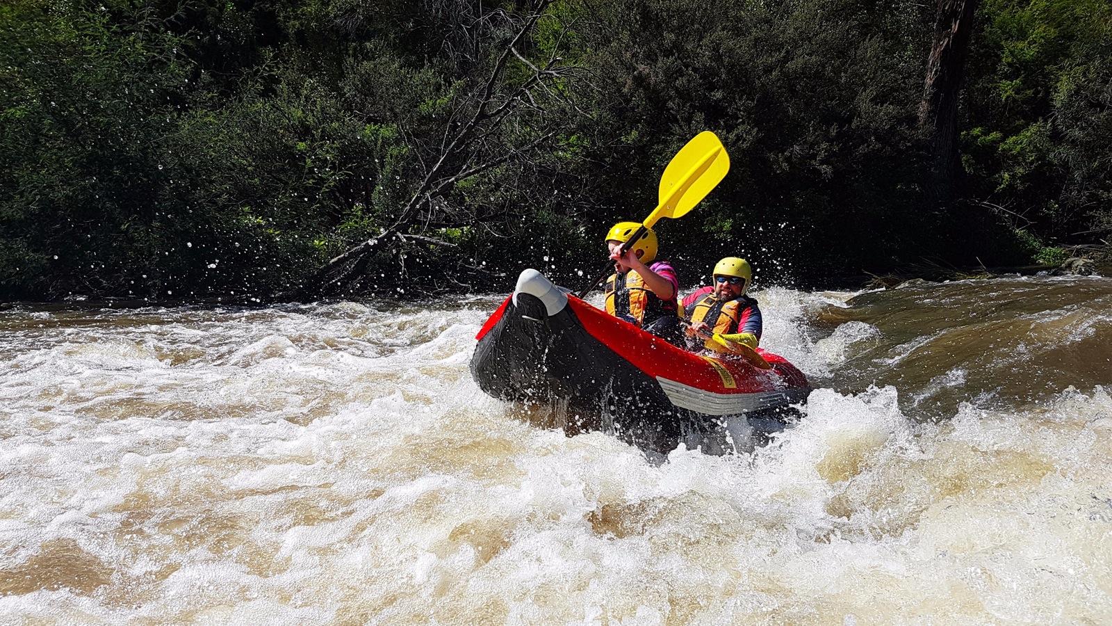 Whitewater kayaking, Yarra river, Melbourne, Australia