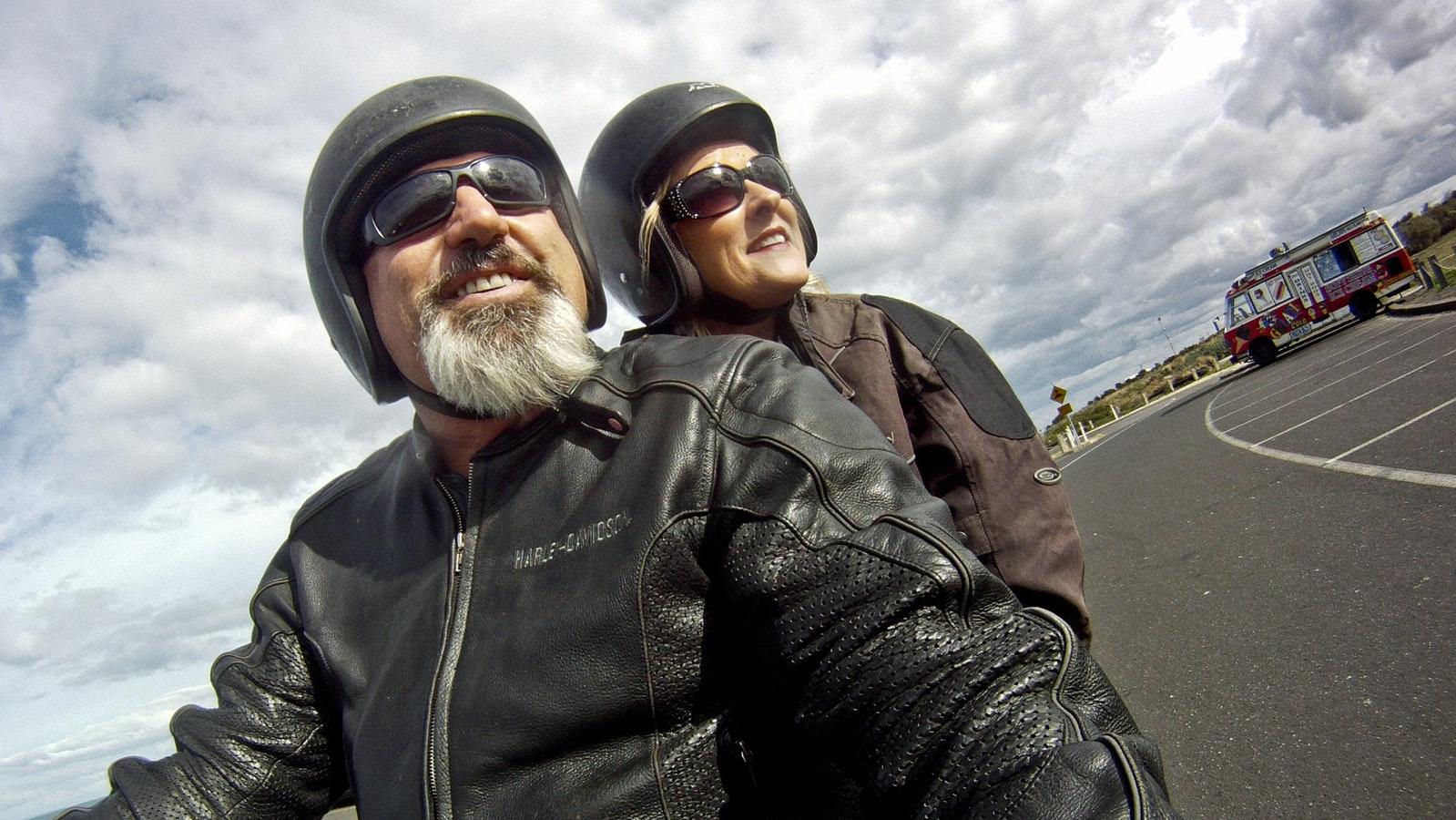 Great Ocean Road on a Harley Davidson