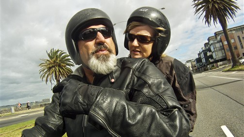 Talk to your rider during the Harley Davidson Dandenong Ranges Eperience Tout