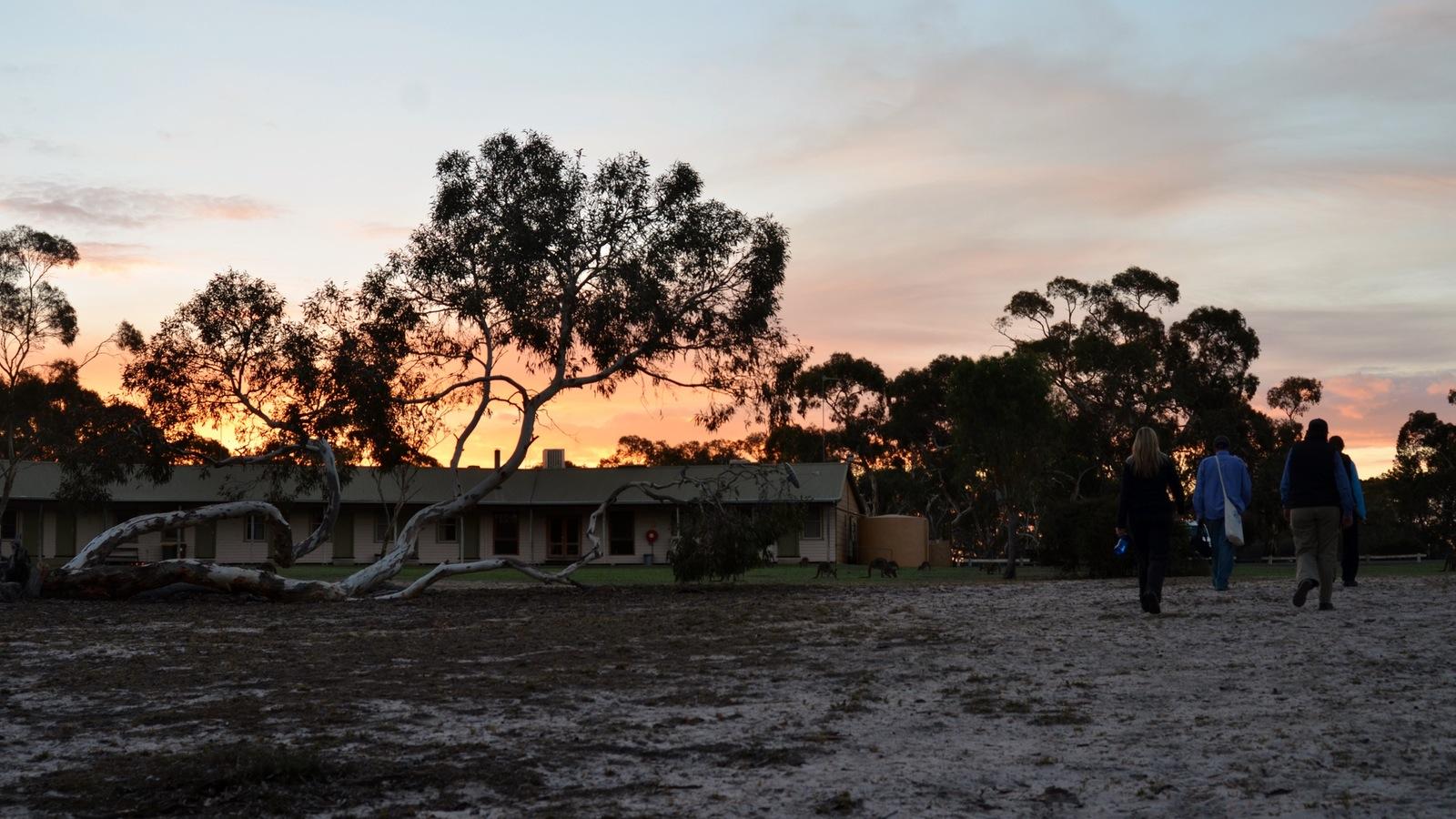 Little Desert Nature Lodge at sunset
