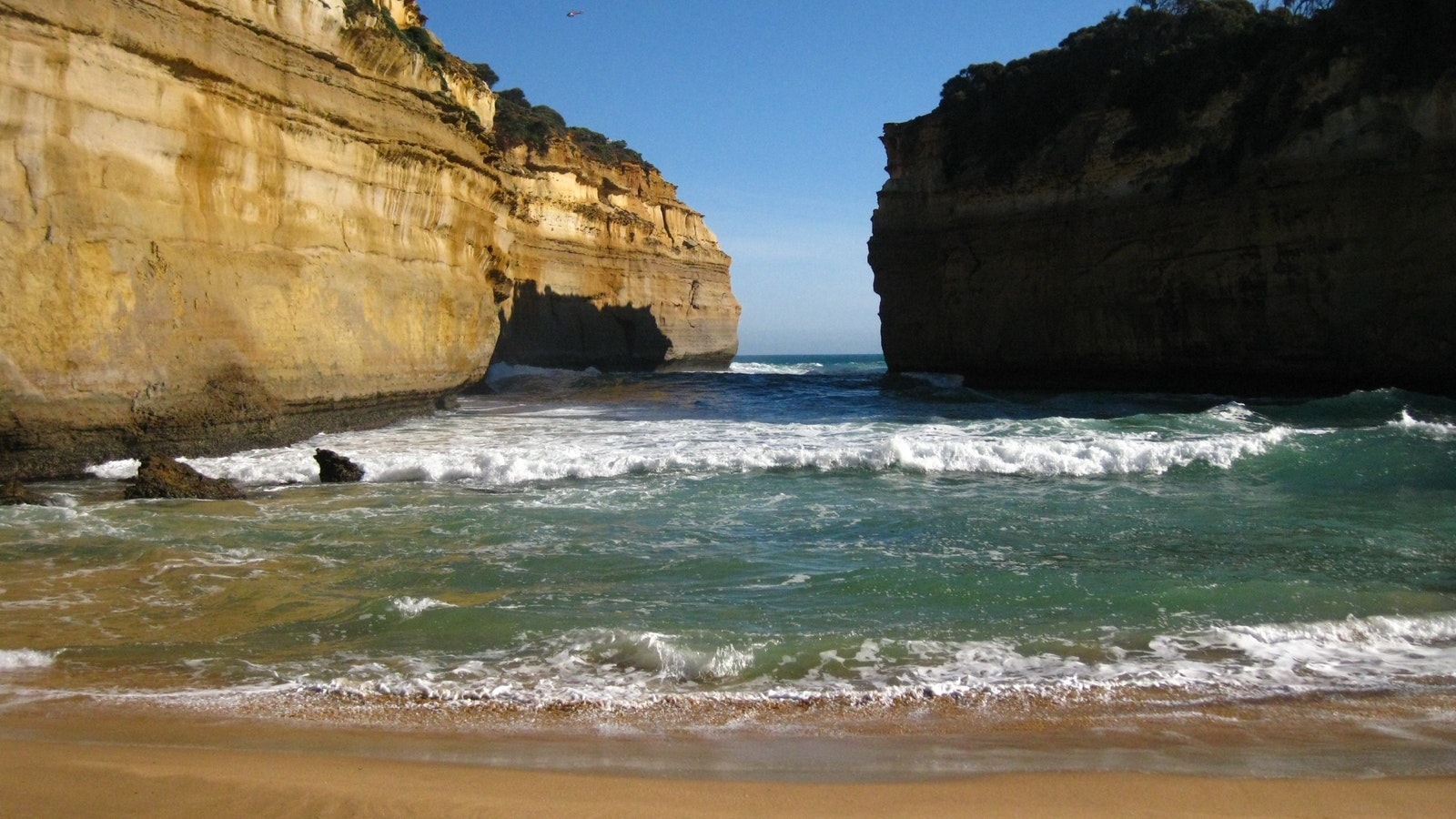 On the beach at Loch Ard Gorge