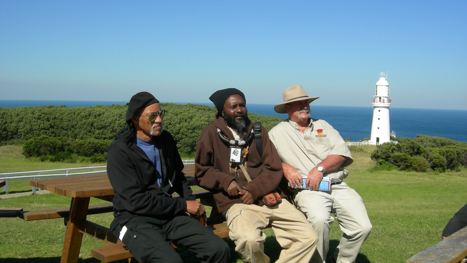 Cape Otway Lighthouse with guests from the US
