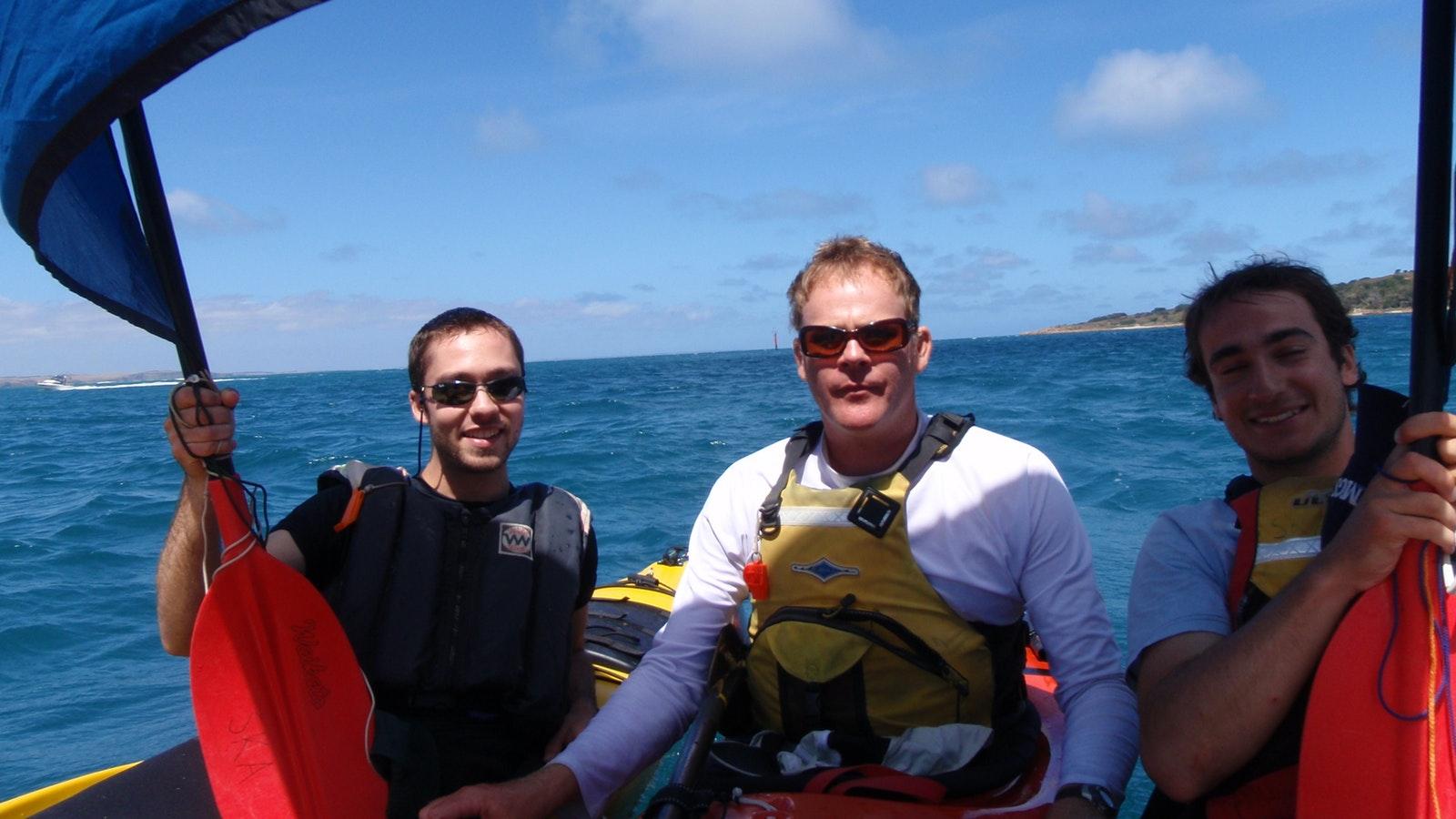 Sea kayaking and sailing Phillip island sea kayak day tour