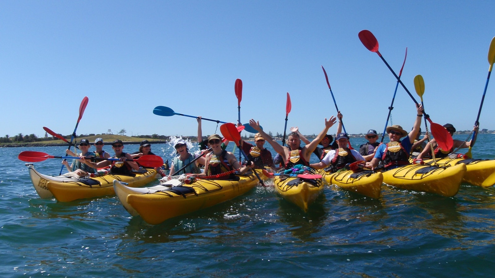 Large group having fun - St Kilda