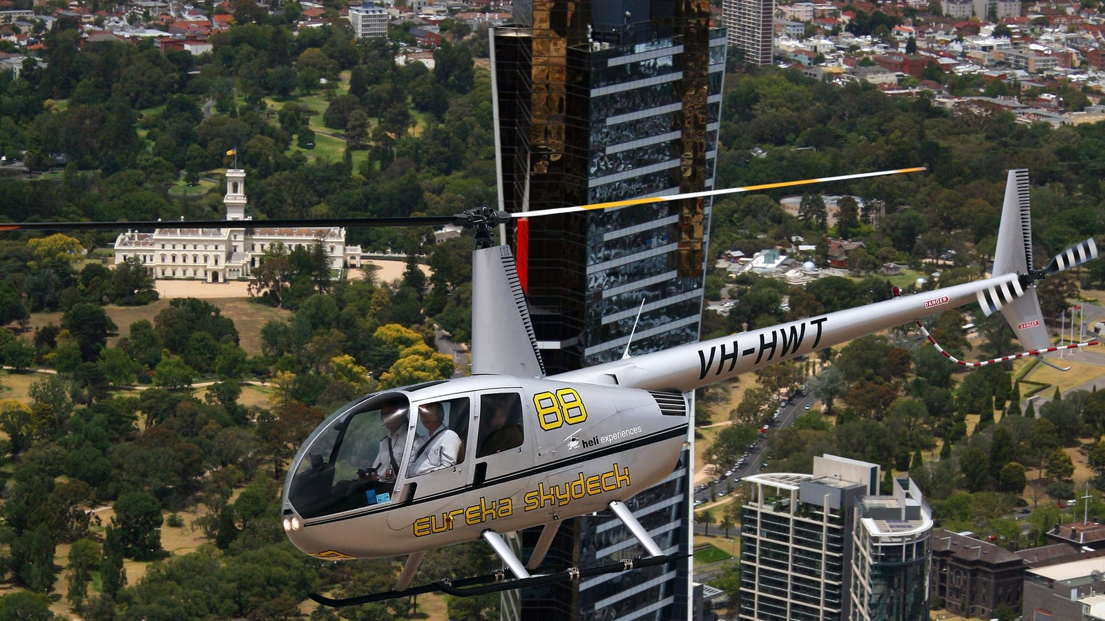 helicopter ride over melbourne