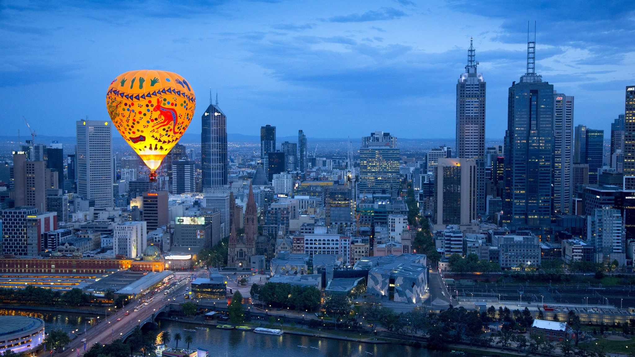 Ballooning over Melbourne