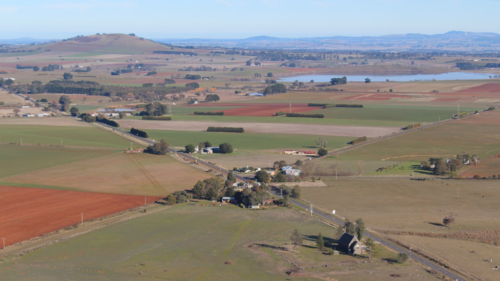 Daylesford from a hot air balloon