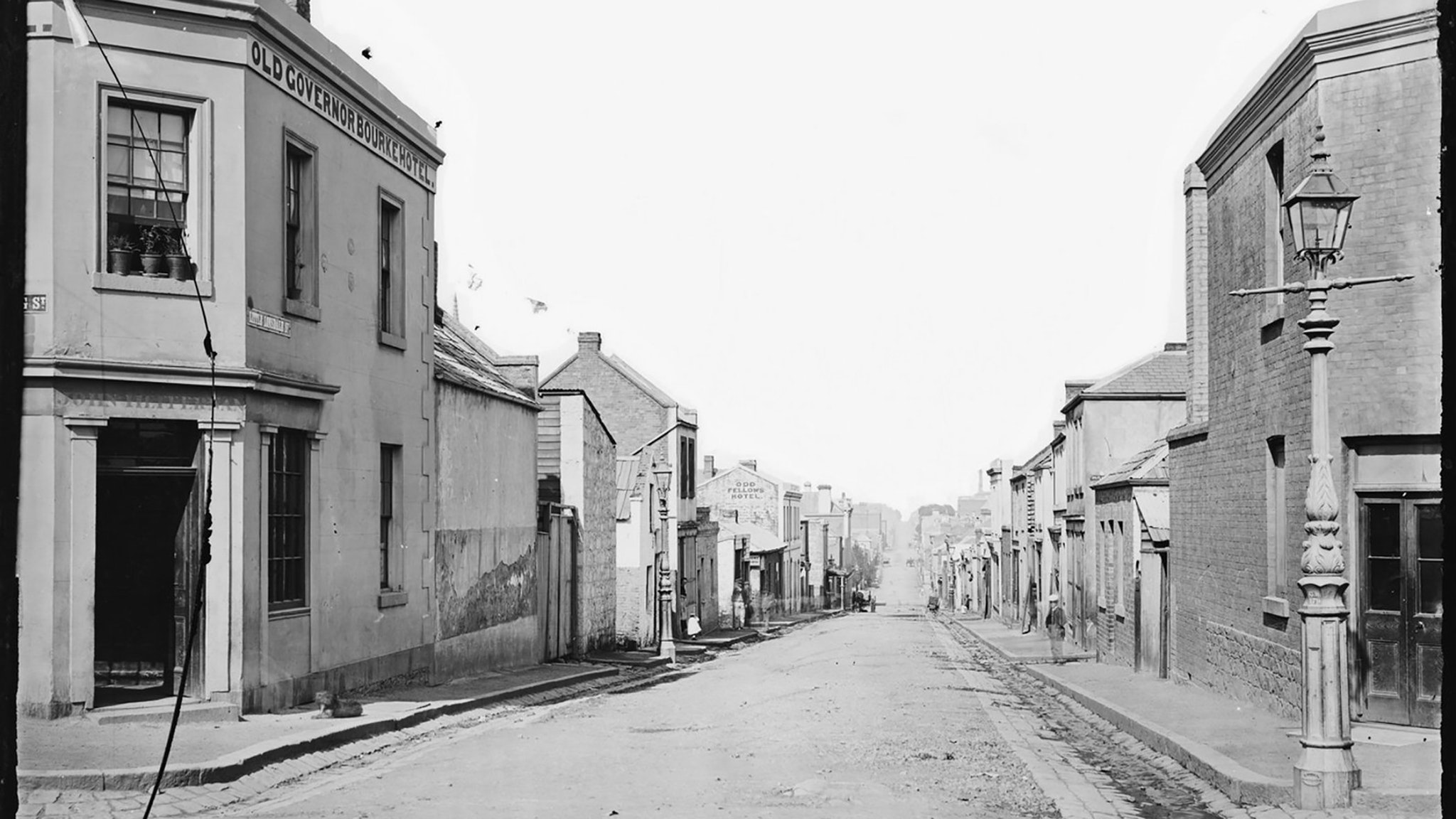 Little Lonsdale St from the corner of Spring St c.1870's