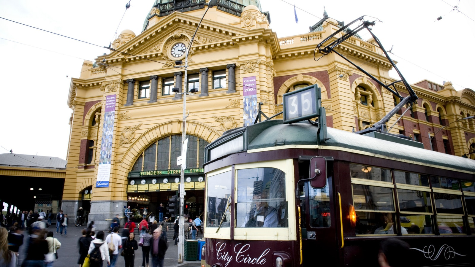 City Circle Tram Attraction Melbourne Victoria Australia