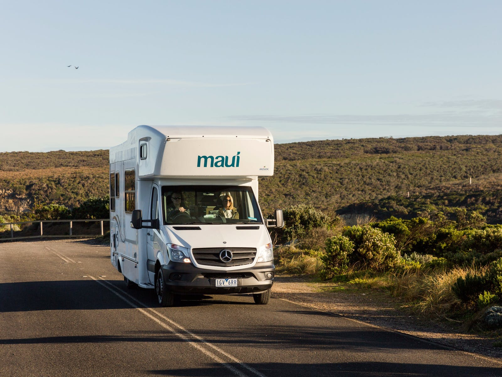maui campervan on the road