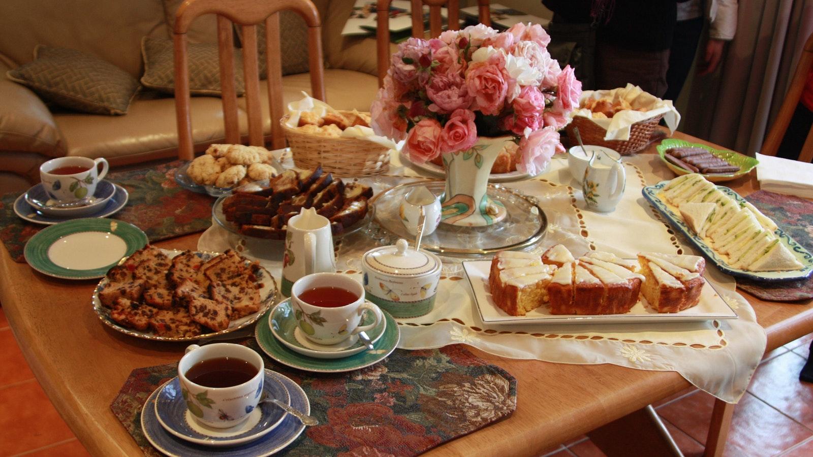 Delicious afternoon tea