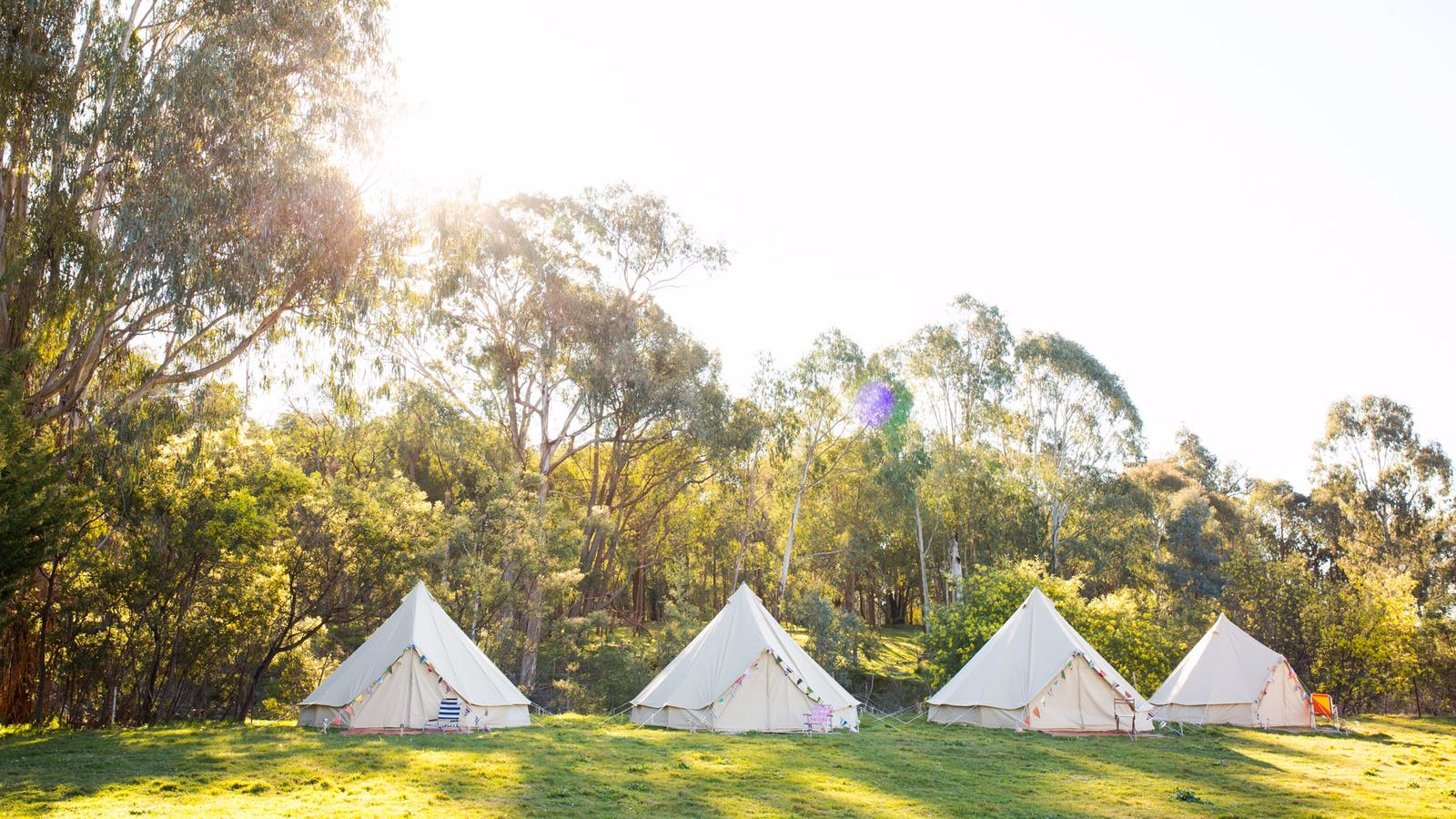 Bell tent village for a wedding