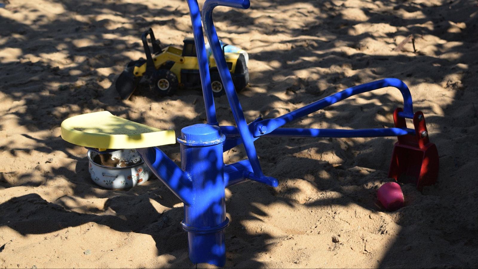 diggers in sandpit