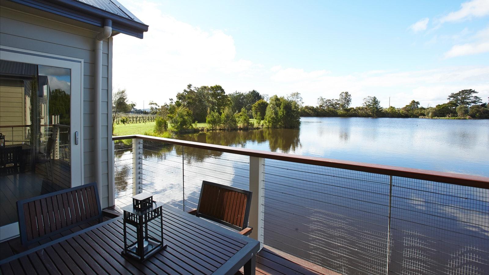 Lake views on private deck