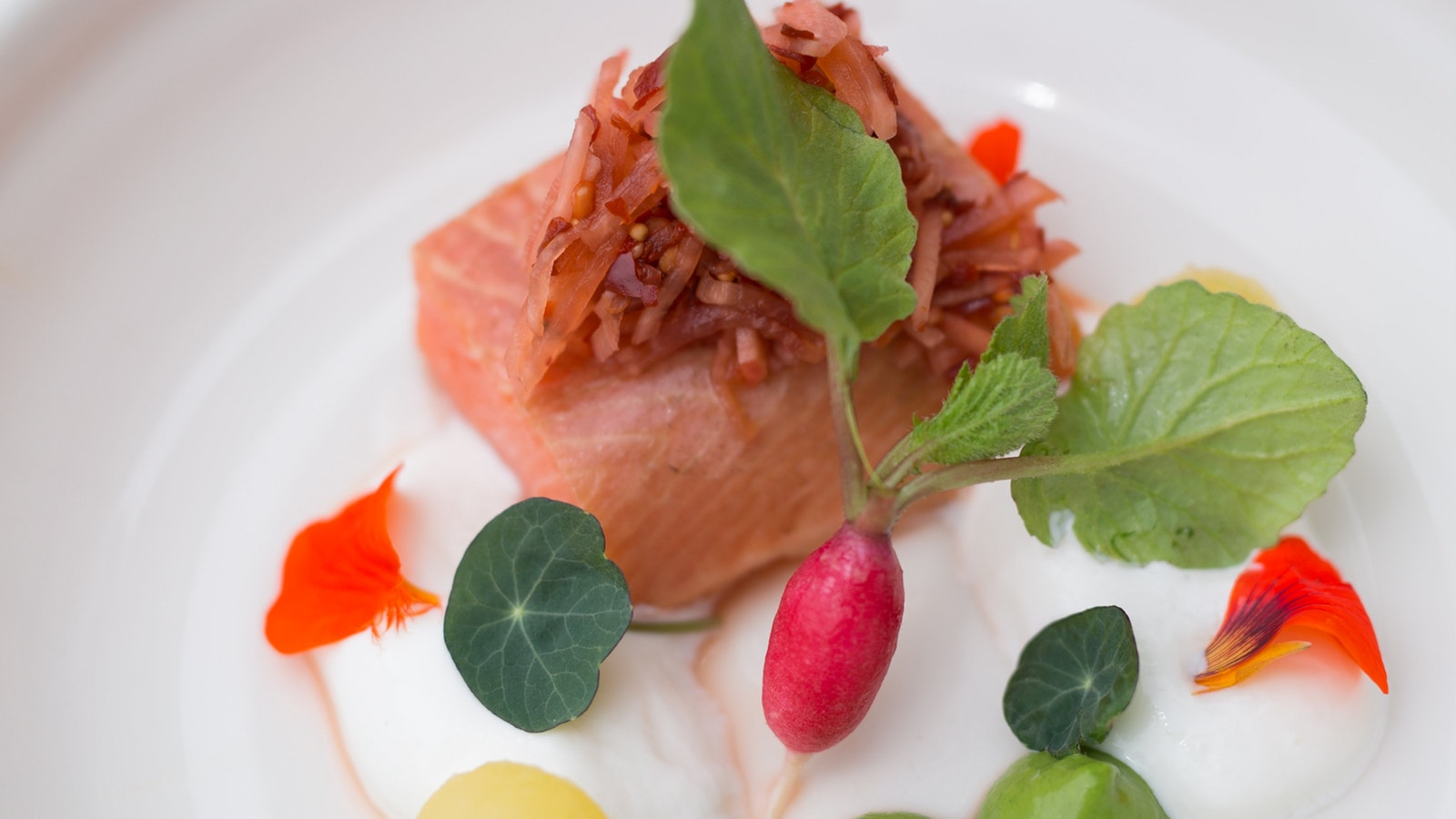 Ocean Trout dish at Linden Tree Restaurant