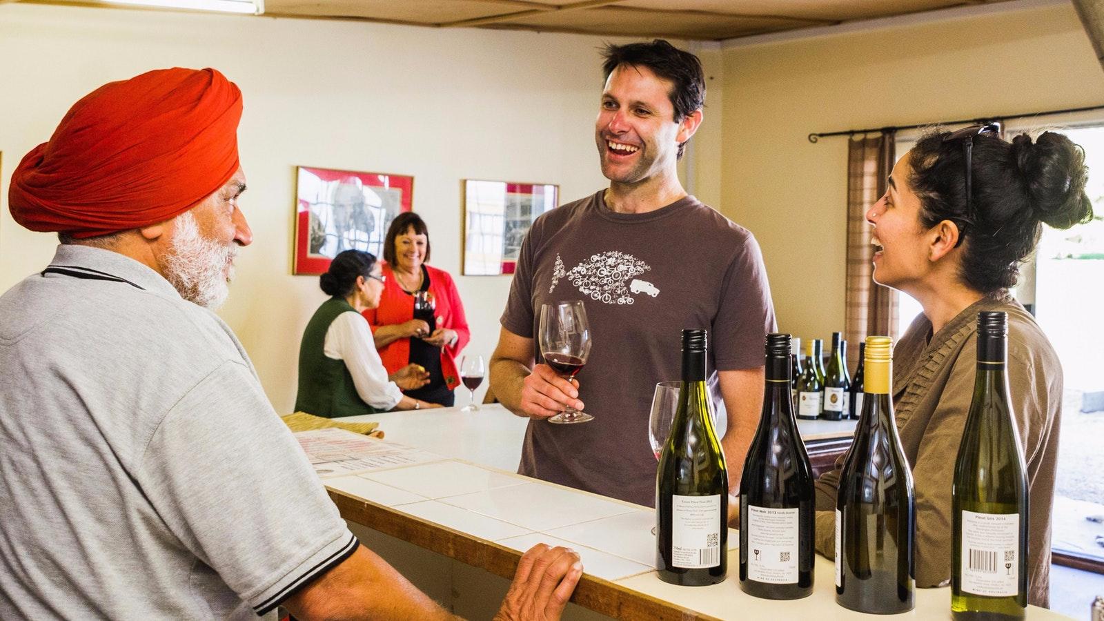Cellar Door wine tasting at Nazaaray Estate Winery