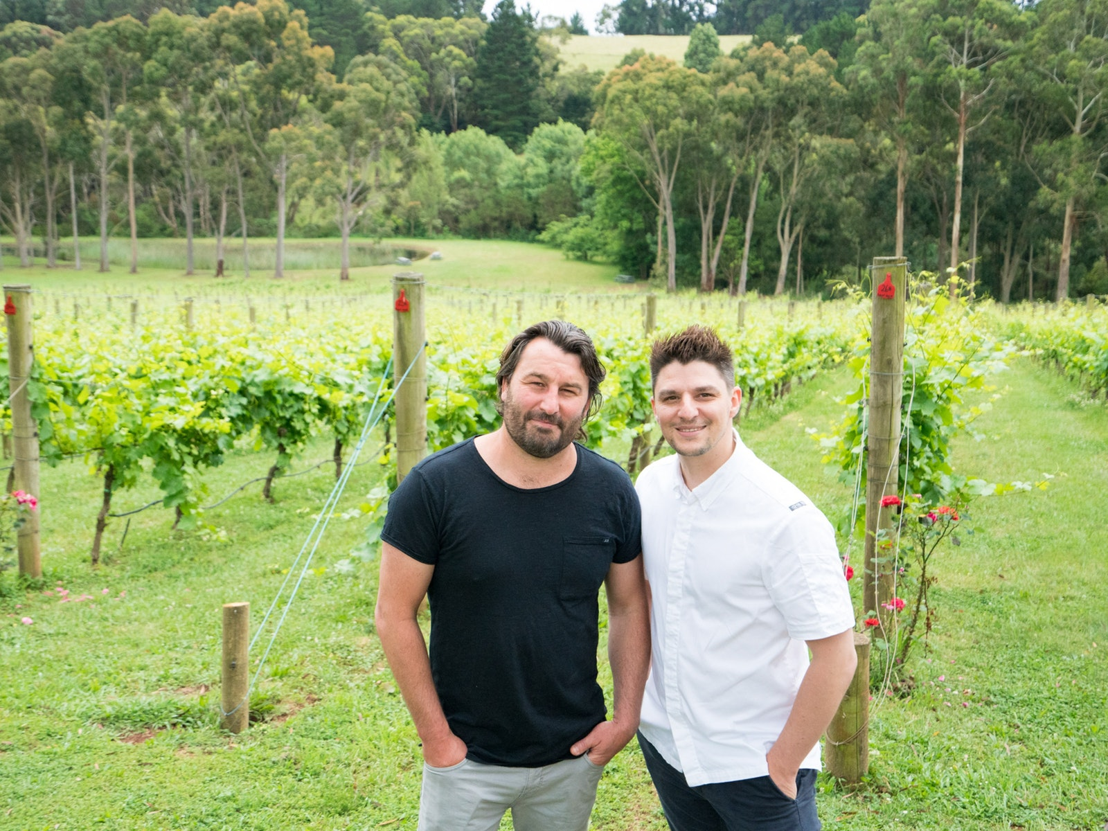 Winemaker Sam and Chef  Michael - Polperro