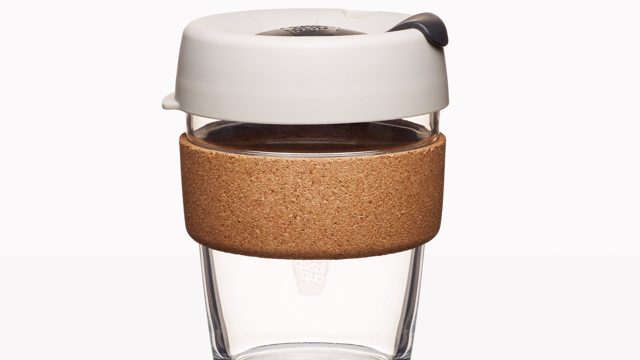 KeepCup Brew, Special Edition Cork 2014, soda lime glass, polypropylene, polyethylene polymer (TPU),