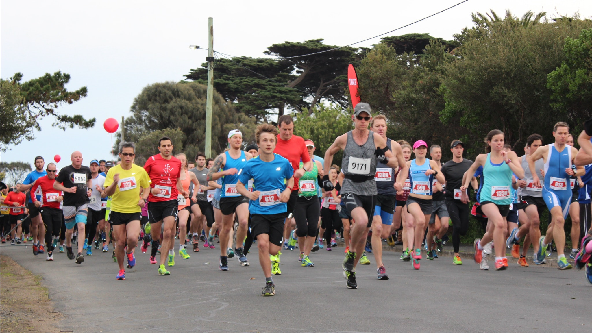 Start line Mornington Running Festival
