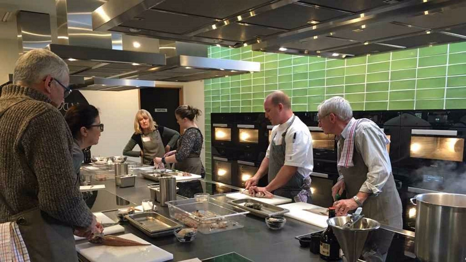 Everyone can have a go, even at filleting fish