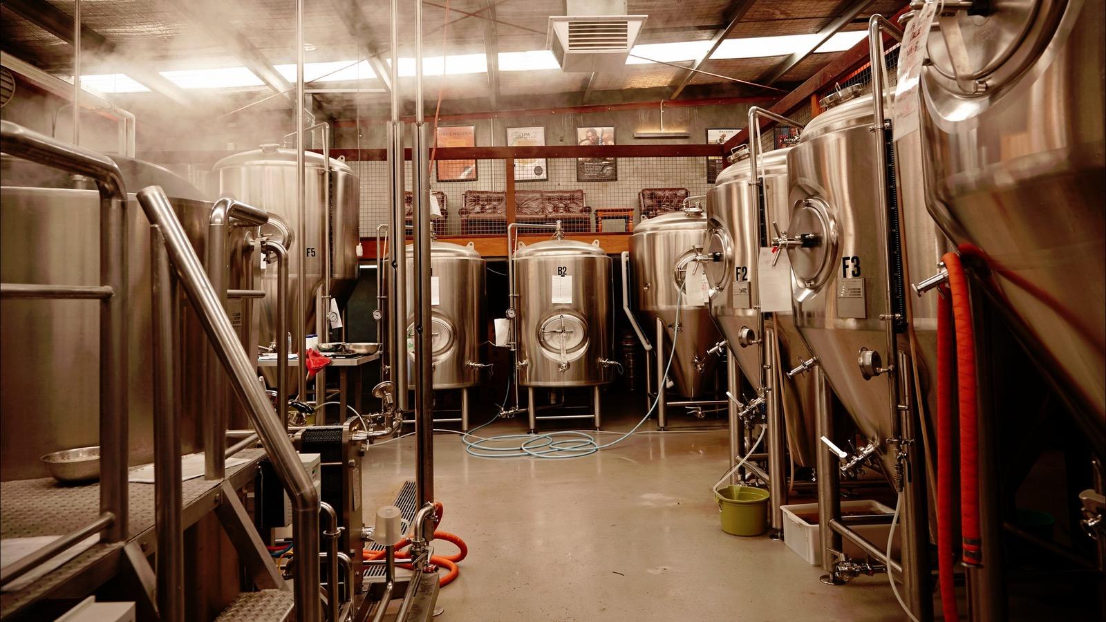 Mornington Peninsula Brewery Brew floor