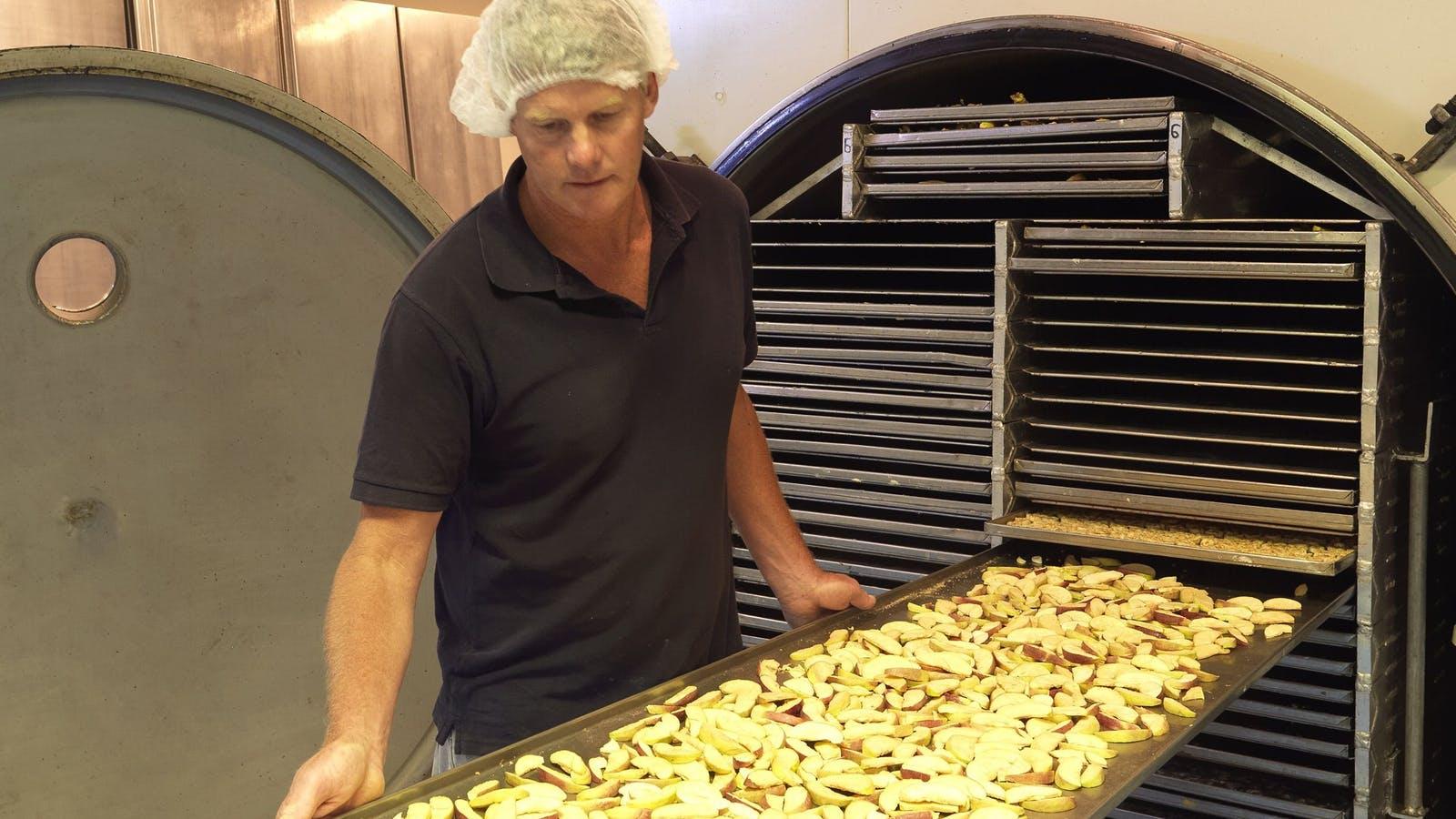 Snap freeze dried fruit