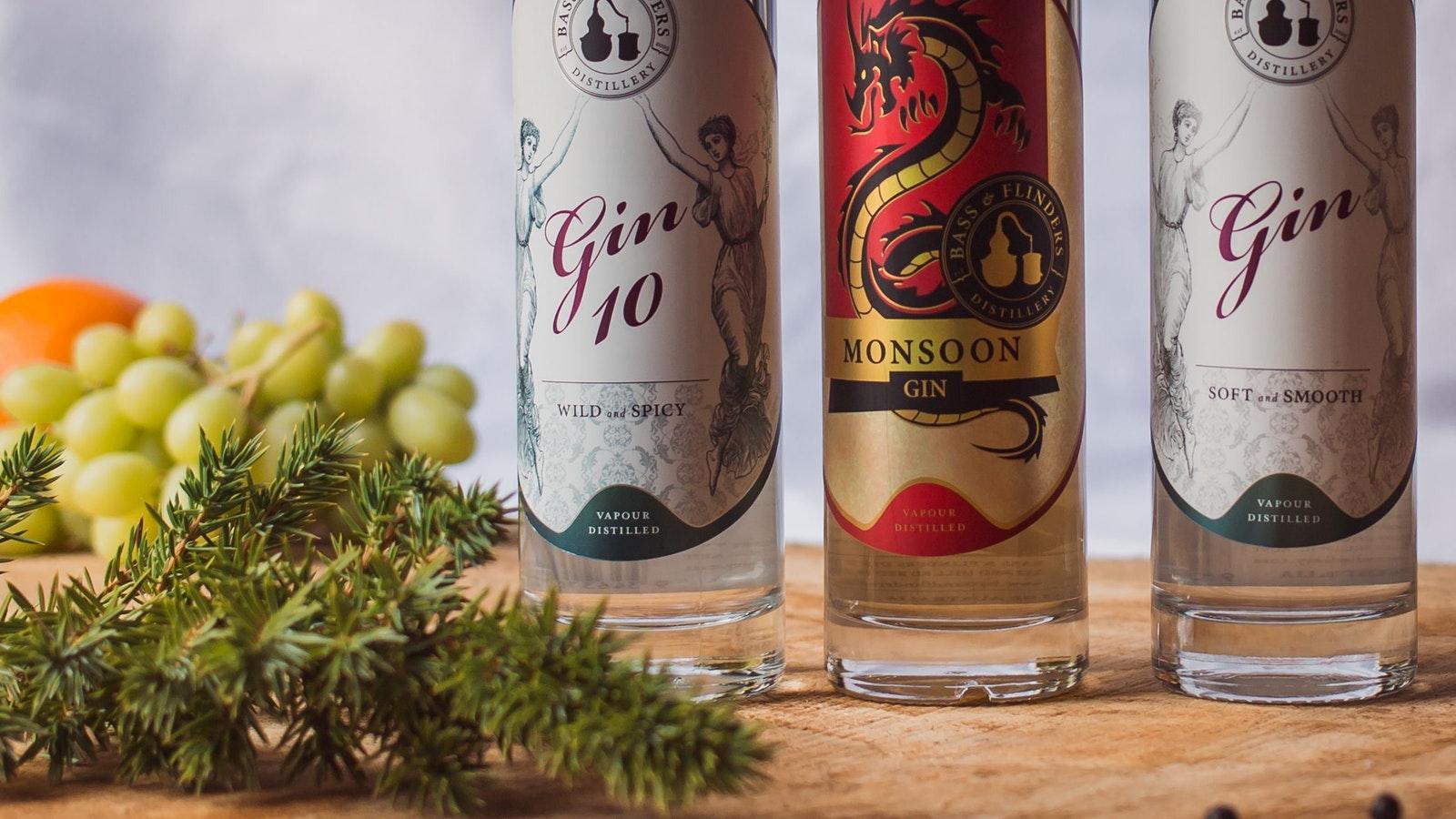 Bass & Flinders Distillery's Gin Range