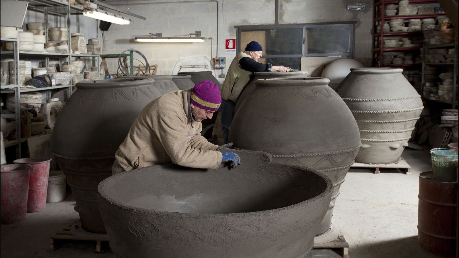 Our terracotta amphora are hand made in Tuscany