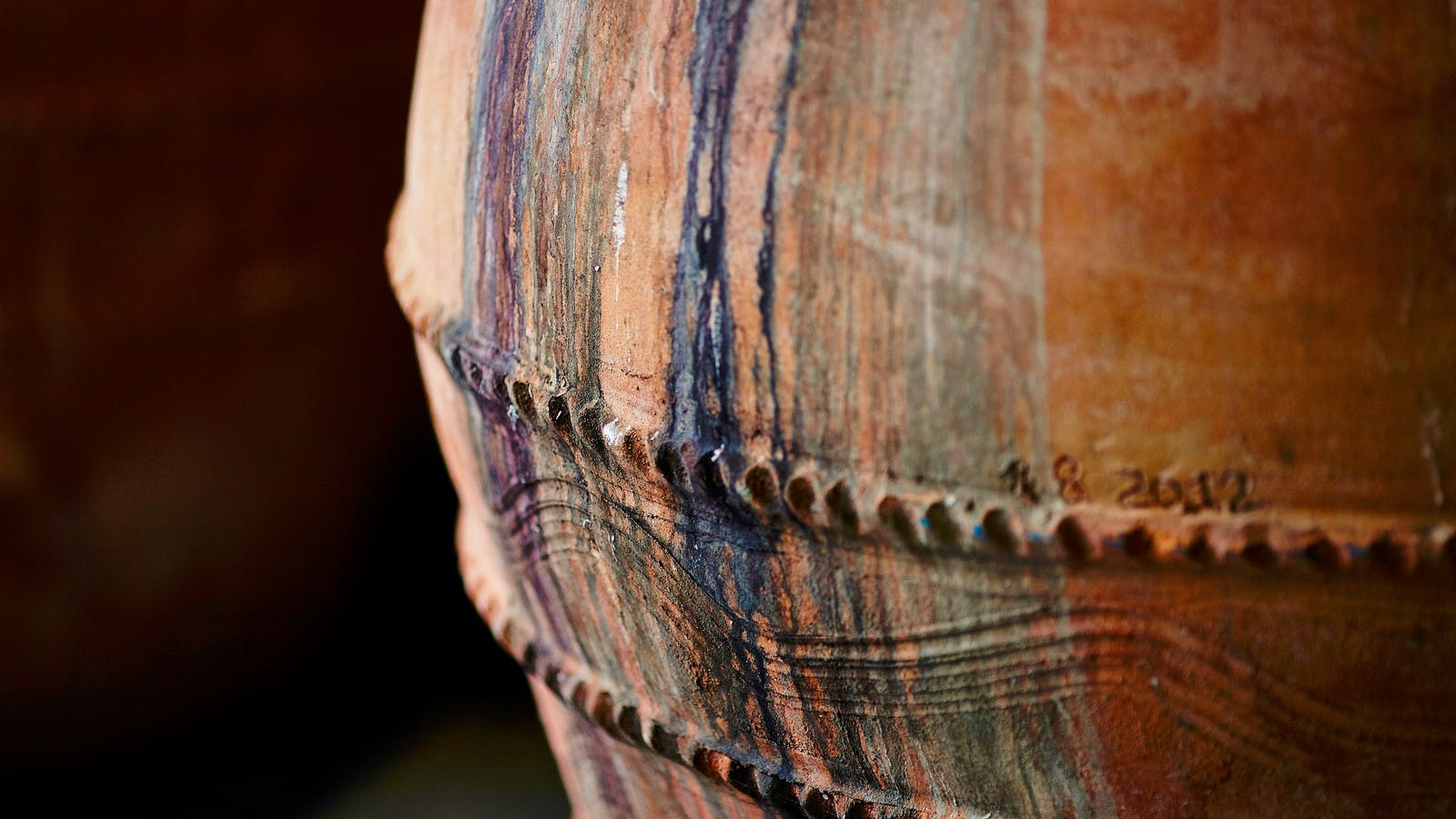 Handmade amphora, full of character