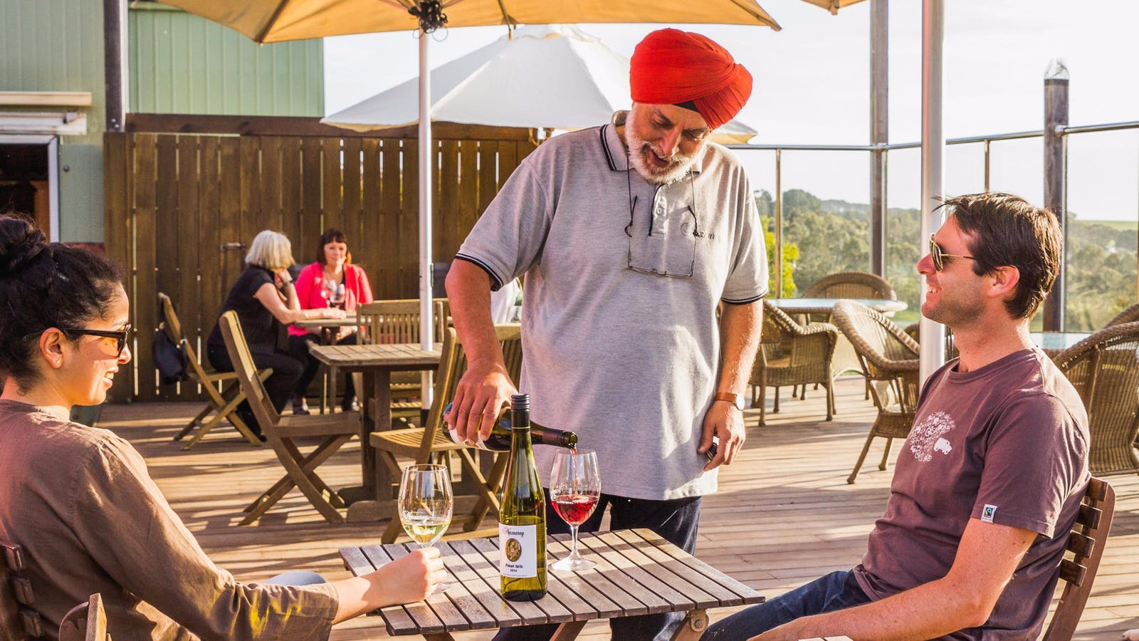 Delightful outdoor deck with stunning views at Nazaaray Estate Winery