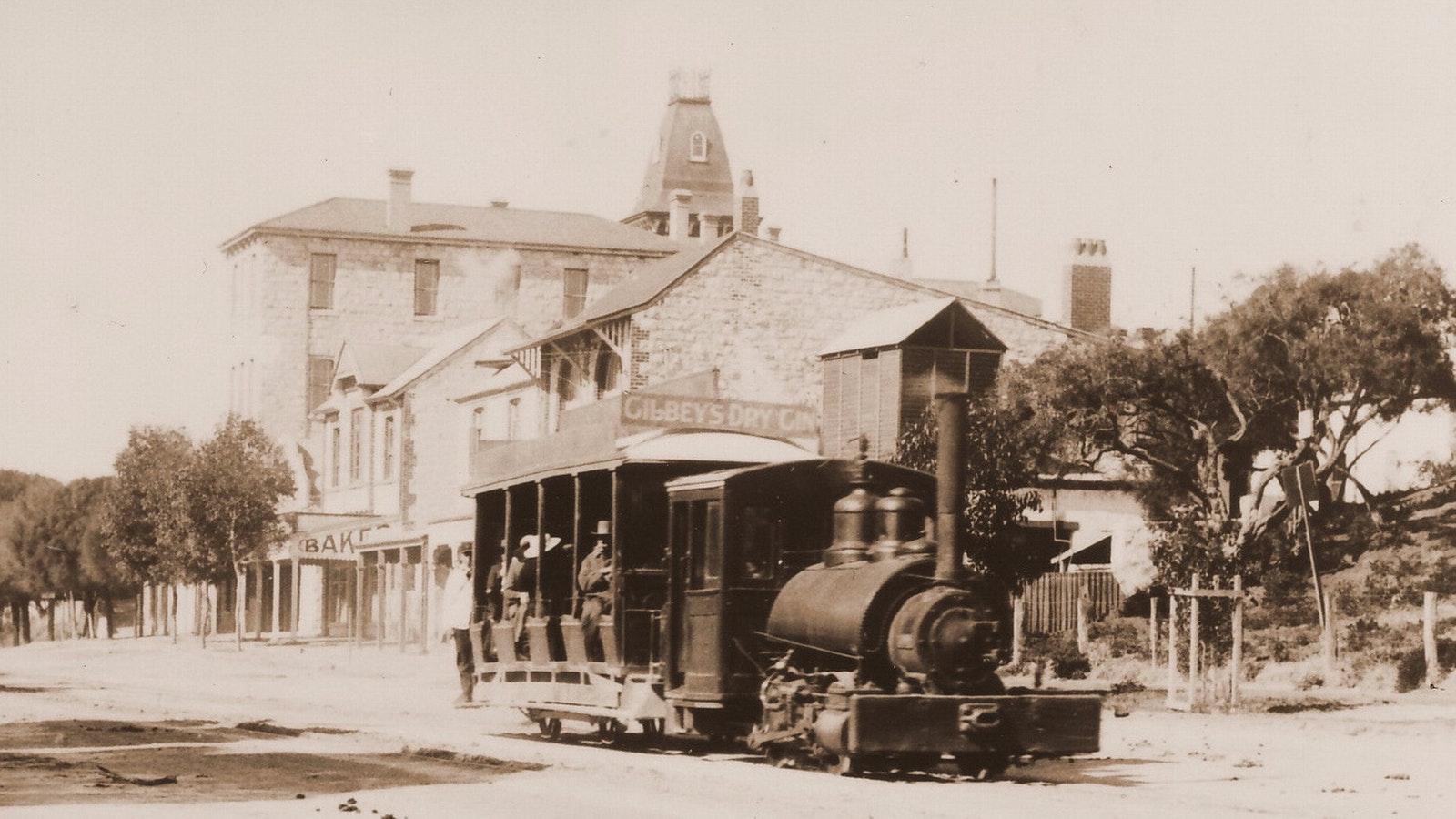 Steam Tram on Main Street Sorrento