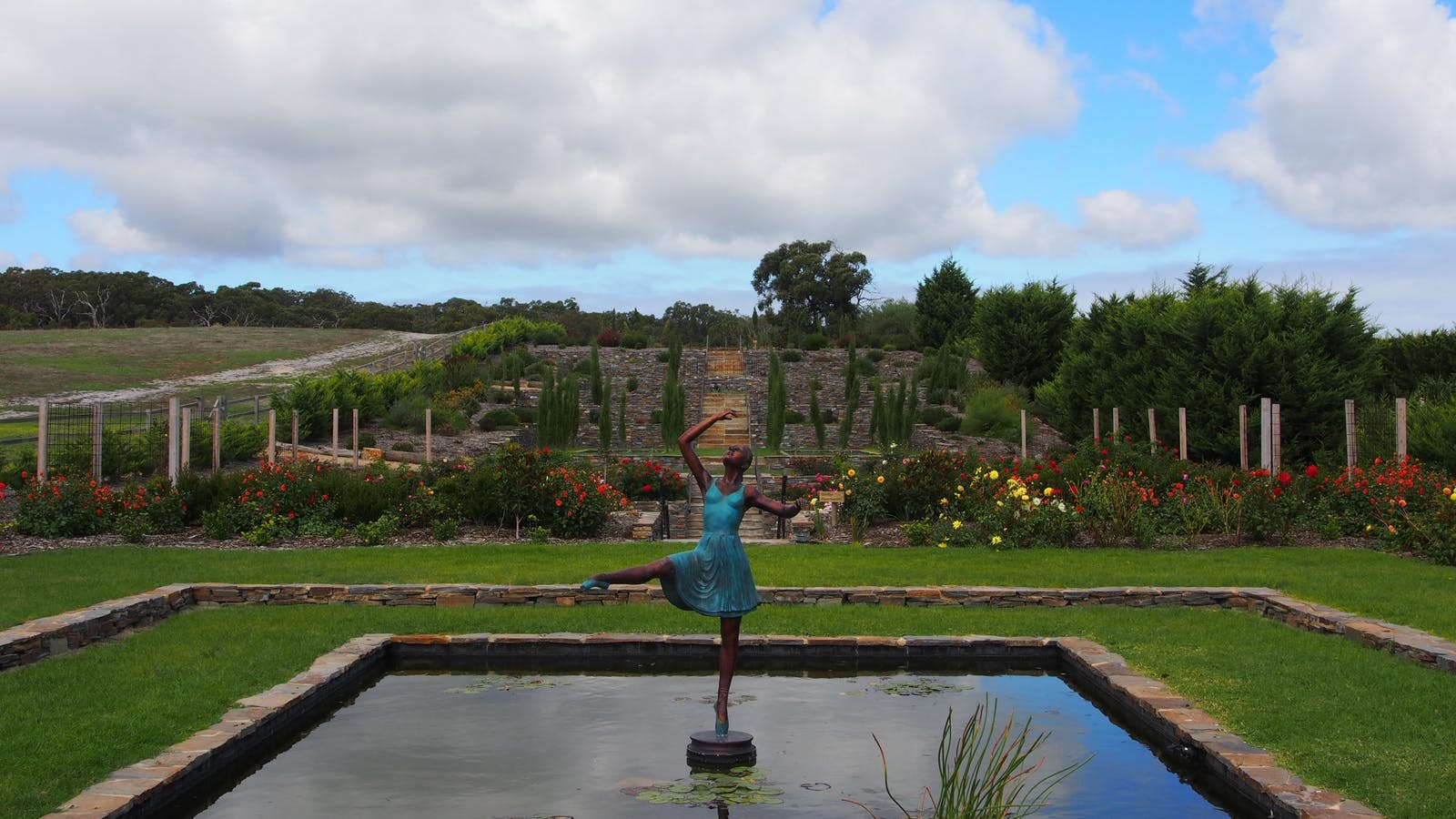 Lilli our ballerina statue takes center stage.