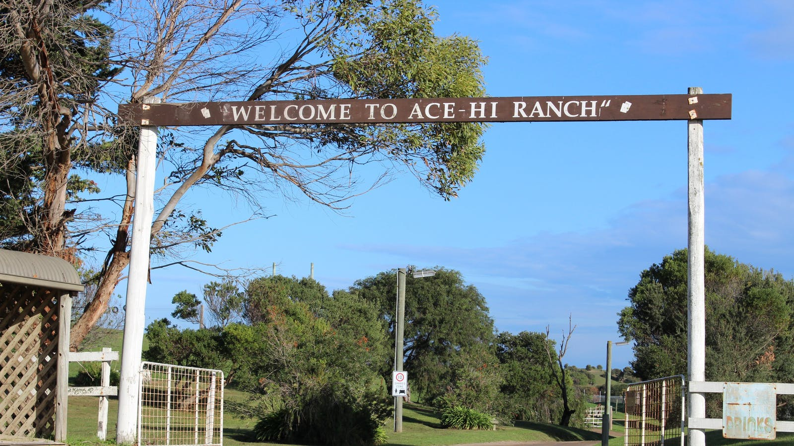 Entrance to Ace Hi Ranch
