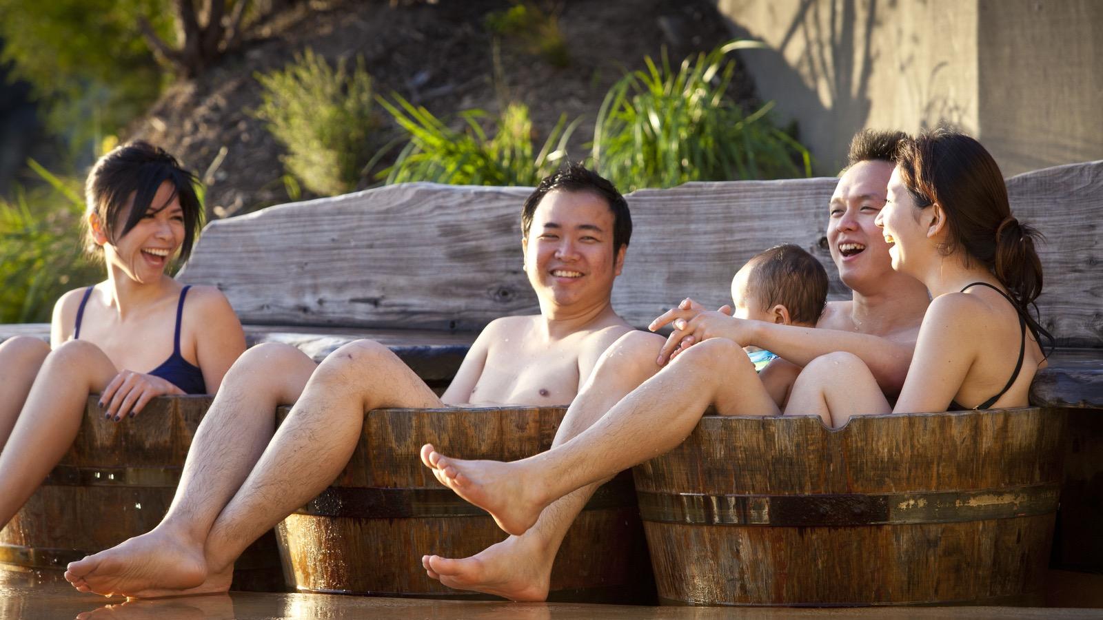 Barrels of fun at the Hot Springs