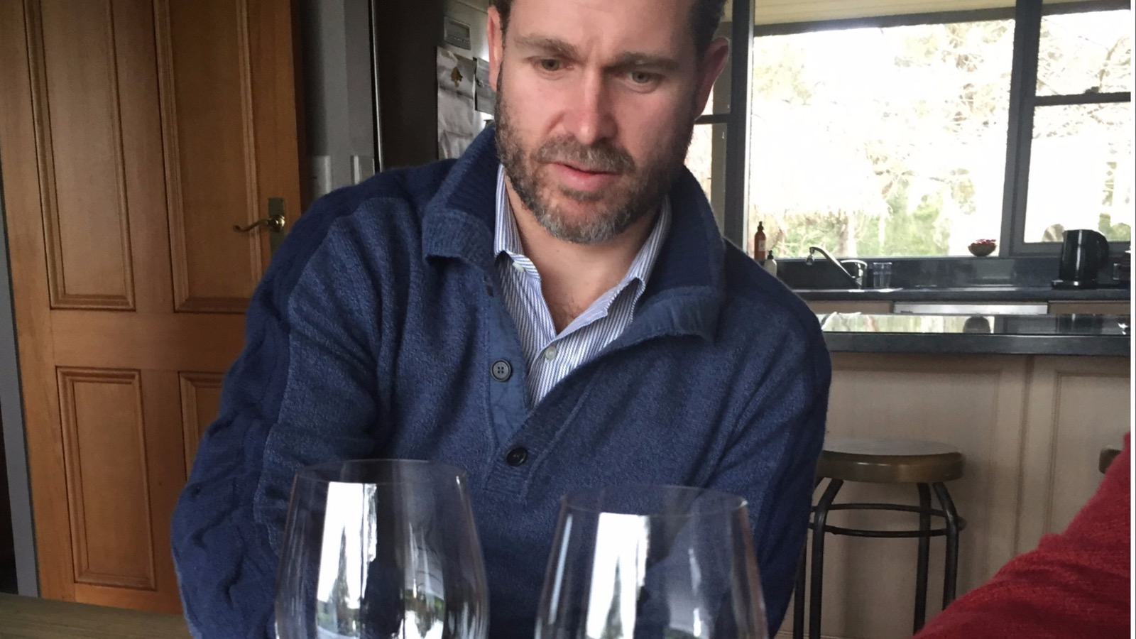 Tasting Chardonnay from one of the earliest vineyards